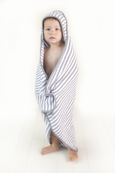 Troupe Baby Hooded Towels - Grey Stripe