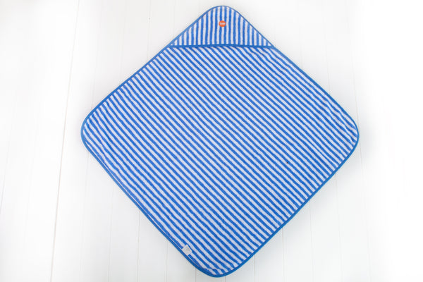 Troupe Baby Hooded Towels - Blue Stripe