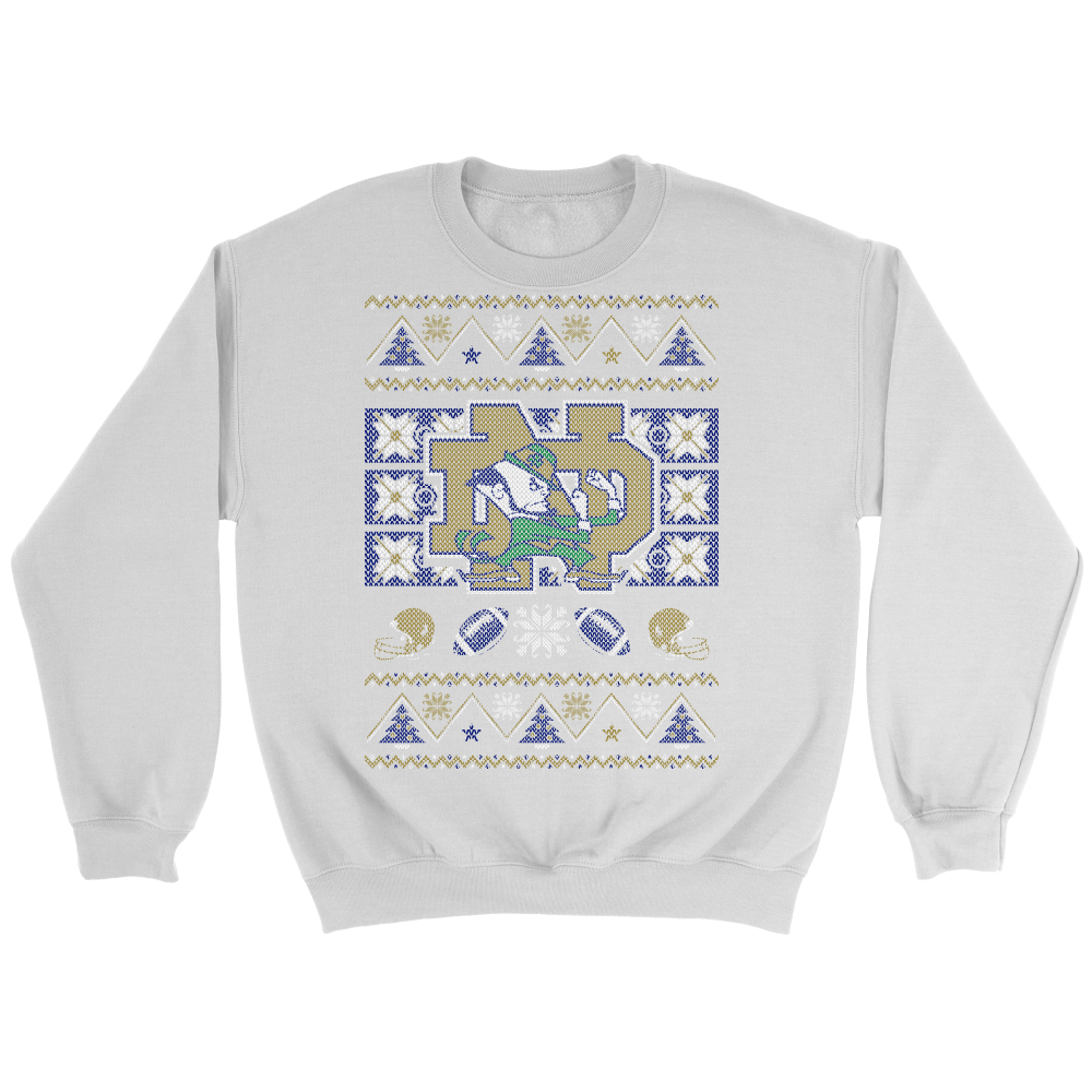 Custom University Of Notre Dame Ugly Sweater 2017 - Pocket Lint and ...
