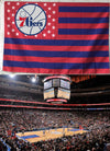 Custom 76ers Stars and Stripes Flag
