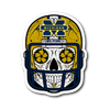 Custom Michigan Sugar Skull Stickers