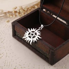 Shipping Shining Sun Supernatural Pendant Necklace Movie Jewelry Super Natural Sun Necklace For Men And Women Wholesale