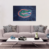 Custom Gators Wood Grain Canvas Wrap