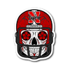 Custom Nebraska Cornhuskers Sugar Skull Stickers