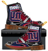 Custom New York Giants Men's Boots 2017 2