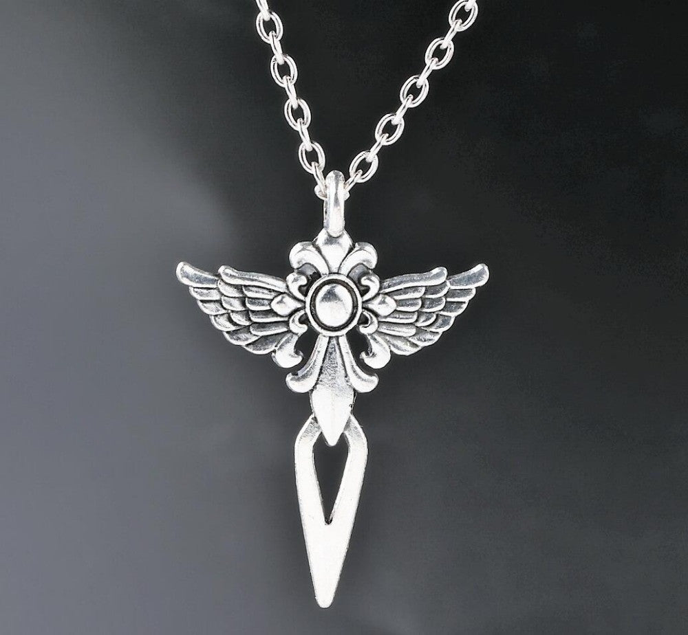 itm s wings necklace silver long ebay large crystal chain pendant guardian angel