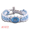 North Carolina Tar Heels Custom Paracord Bracelet NCAA College Football Charm Bracelet Survival Bracelet,Drop Shipping!6Pcs/lot!