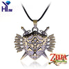 Hot Game Zelda Triforce Vintage Shield Skyward Sword Rope Chain Gaes Necklace The Legend Of Zelda Pendent Chain Necklace Jewelry
