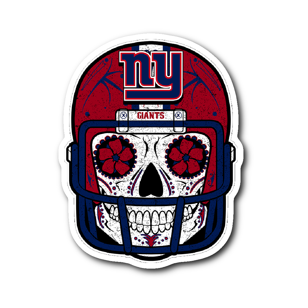 Custom new york giants sugar skull stickers pocket lint and other things