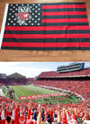 WisconsinBadgers Flag with Stars and Stripes