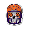 Custom Clemson Sugar Skull Sticker