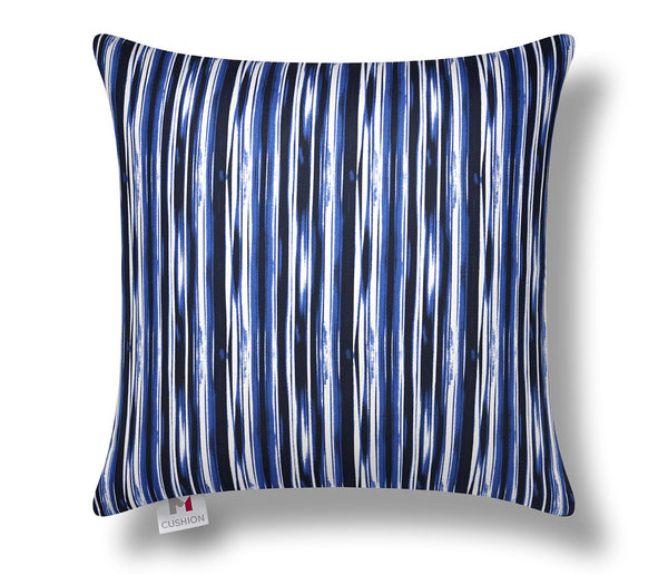 "18"" M Cushion Premium Abstract Blue Stripes Shiatsu Cushion Bundle"