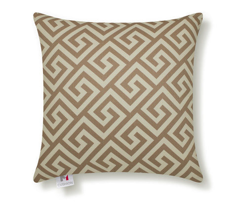 M Cushion Greek Key Taupe