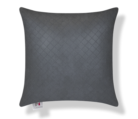 "18"" M Cushion Charcoal Pin Dot Cover"