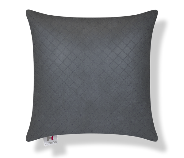 M Cushion Deluxe Charcoal Pin Dot Front