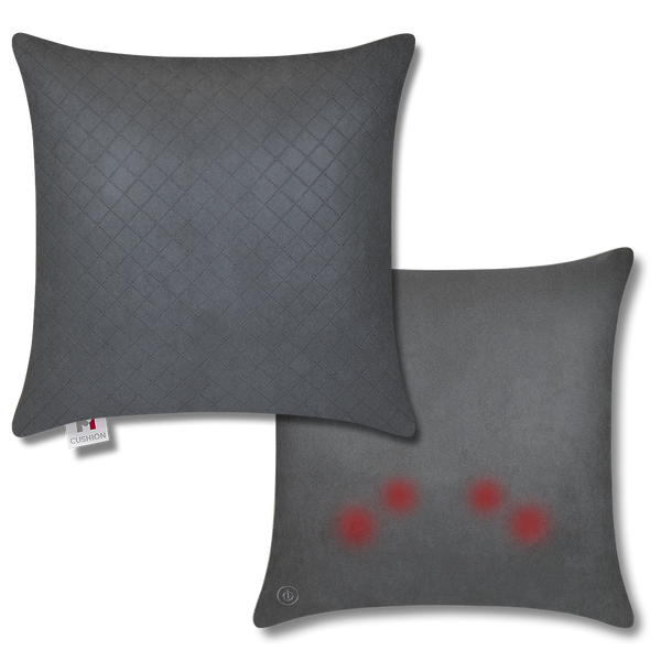 M Cushion Deluxe Charcoal Pin Dot Front and Back