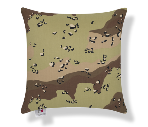 "18"" M Cushion Desert Camouflage Cover front"
