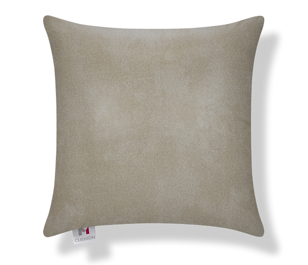 "18"" Faux Leather Beige Cover front"