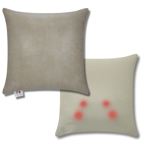 M Cushion Faux Leather Beige Overlay