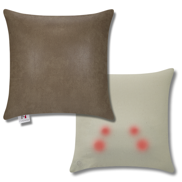 M Cushion Faux Leather Brown Overlay