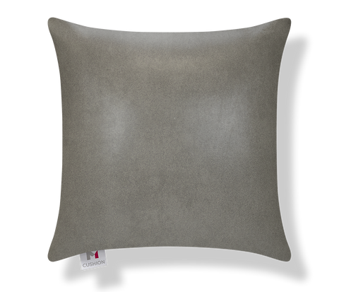 "18"" M Cushion Faux Leather Grey Cover"
