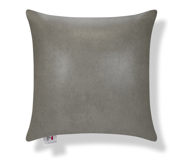M Cushion Faux Leather Grey Front