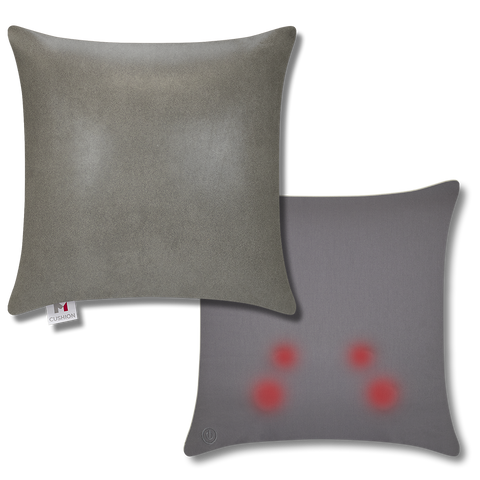 M Cushion Faux Leather Grey Overlay