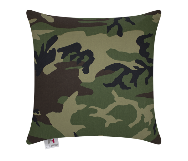 "18"" M Cushion Jungle Camouflage front"