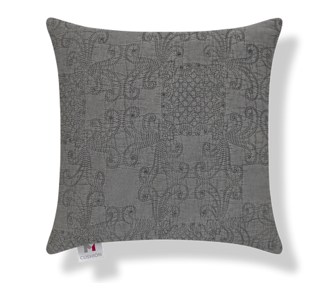"18"" M Cushion Quilted Grey Cover"