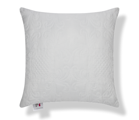 "18"" M Cushion Quilted Vintage White Cover"