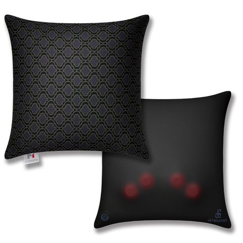 black massage cushion, m cushion front and back