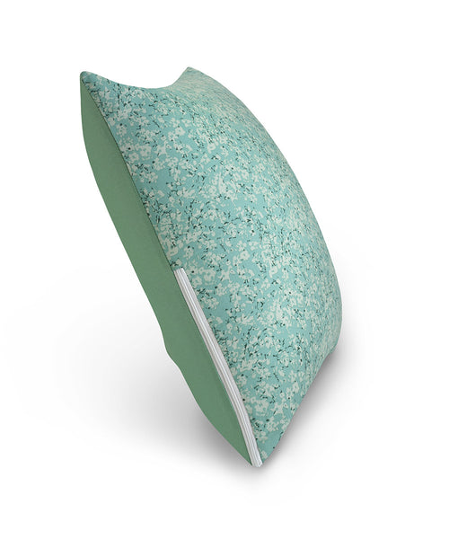 "16"" M Cushion Floral Green Side View"