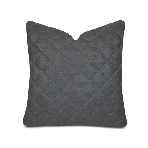 Luxe Quilted Grey Faux Leather Cover