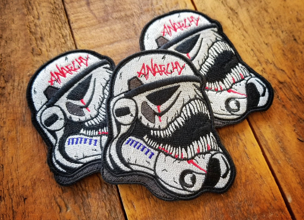"Storm Trooper Anarchy 4"" Velcro Patch"