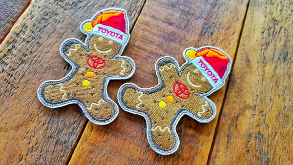 "Toyota Gingerbread Man 4"" Velcro Patch"
