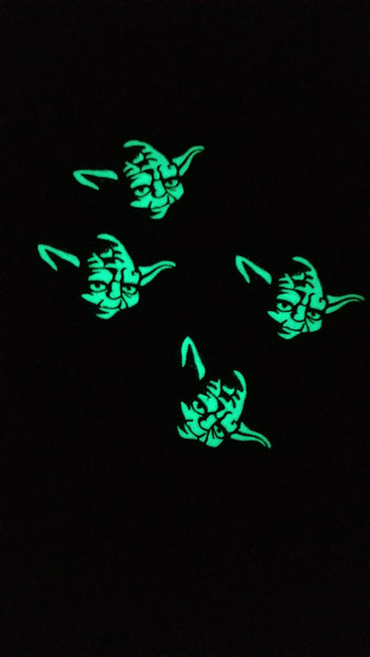 "TOY-Yoda 4"" Glow in Dark Velcro Patch"