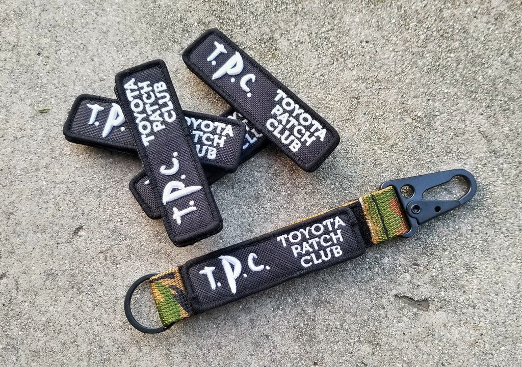 "Toyota Patch Club (TPC) 3.5"" Velcro Name Tag Patch"
