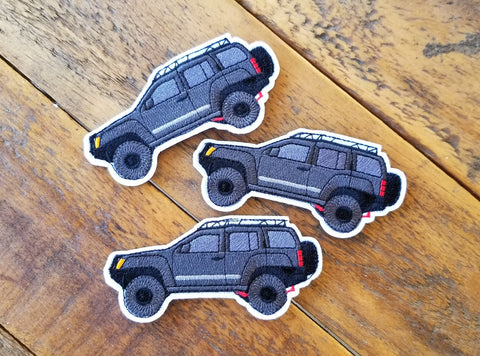 "Nissan Xterra Black 4"" Velcro Patch"