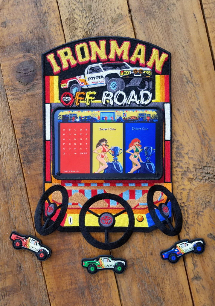 "Arcade Ironman Super Offroad 12"" Velcro Patch"