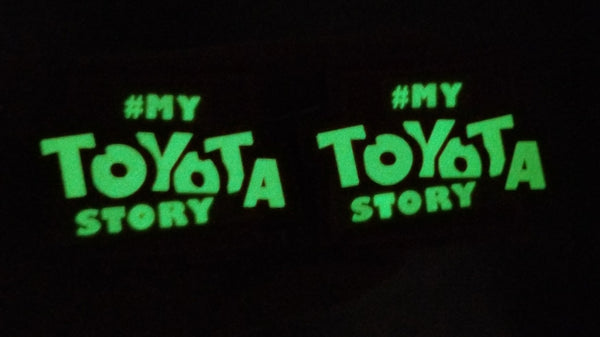 "My Toyota Story v4 Glow 2.5"" PVC Rubber Velcro Patch Pair"