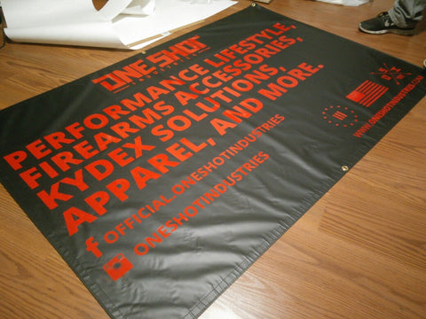 8. Custom Logo Grommeted Banner