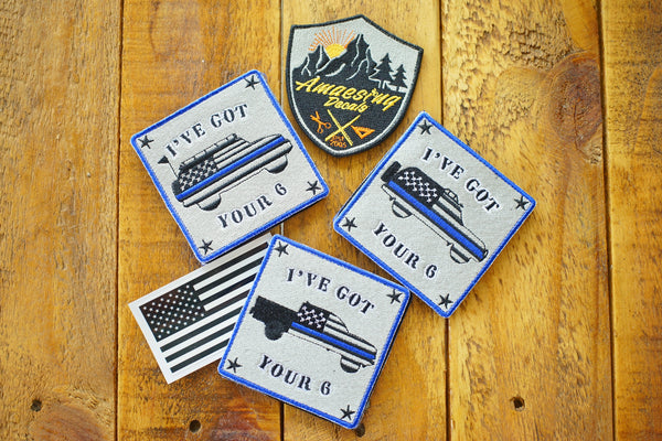 "I've Got Your 6 Blue Line 4"" Velcro Patch - Limited Edition"