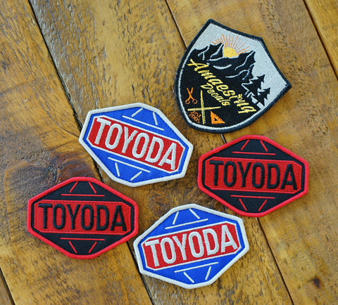 "Toyoda 3"" Blk/Red & Red/Silver/Blu Limited Velcro Patch"