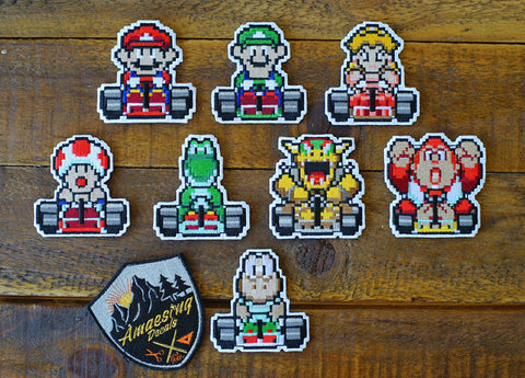 "Mario Kart 8-Bit Pixel 3"" Velcro Limited Patches"