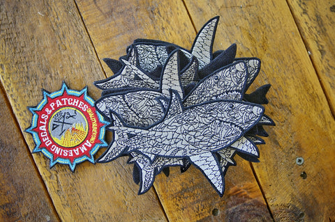"Shark Tribe 5"" Velcro Patch"