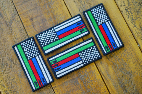 "Remembrance Flag 4.5"" Velcro Patch"