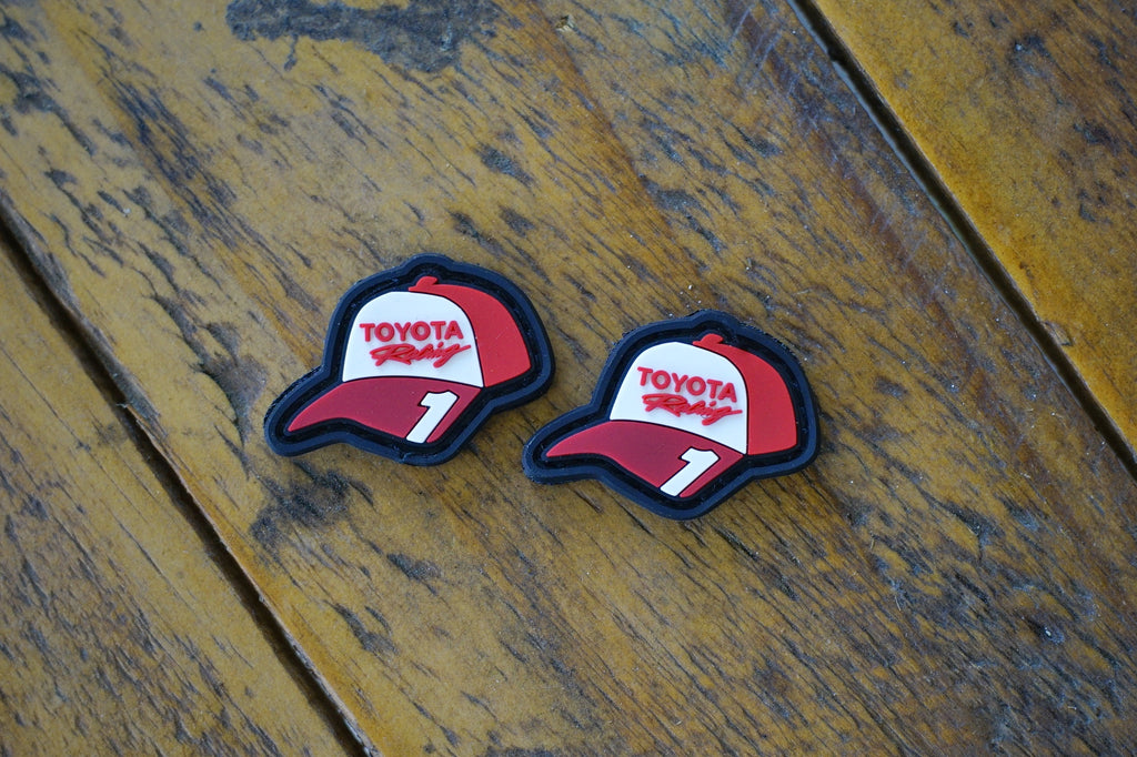 "Toyota Racing 1 Hat Eyes 1"" PVC Velcro Patch"