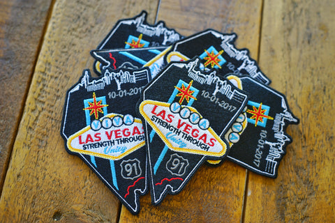 "Las Vegas Memorial 5"" Velcro Charity Patch"