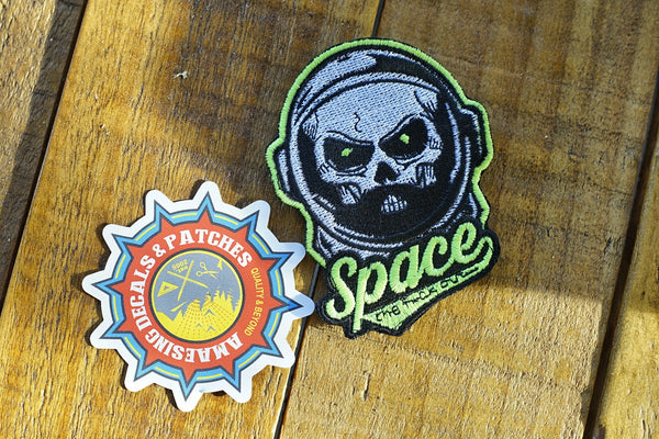 "Space The F*ck Out 4"" Glow In The Dark Velcro Patch"