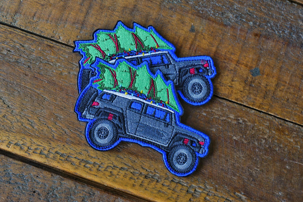 "FJ Cruiser Xmas Tree 4.5""w Velcro Patch"